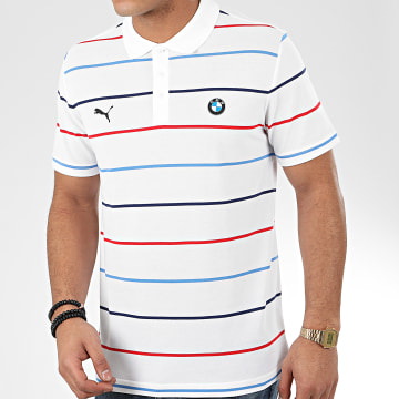 Polo Manches Courtes BMW Motorsport 596100 Blanc