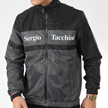 Sergio Tacchini - Veste Zippée Foza 38720 Noir Gris Anthracite