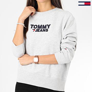 Tommy Jeans - Sweat Crewneck Femme Corp Heart 7804 Gris Chiné