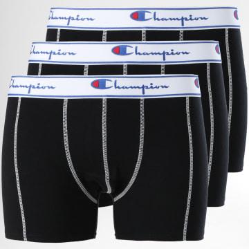 Lot De 3 Boxers Y081T Noir Blanc
