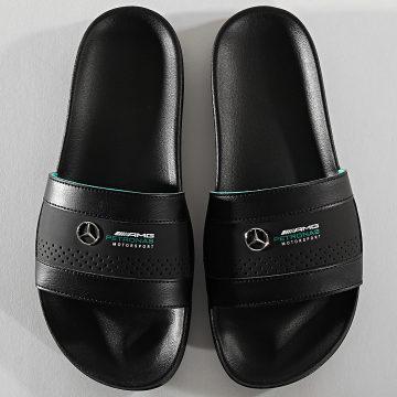 Claquettes Leadcat AMG Mercedes 371553 Puma Black Spectra Green