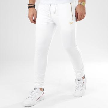 Project X - Pantalon Jogging 2040061 Blanc Noir Doré