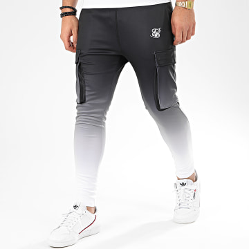 Pantalon Jogging Poly Athlete 15512 Noir Blanc Dégradé