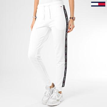 Pantalon Jogging Femme A Bandes 0564 Blanc