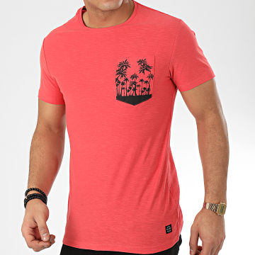 Tee Shirt Poche 20709797 Rouge Clair Chiné