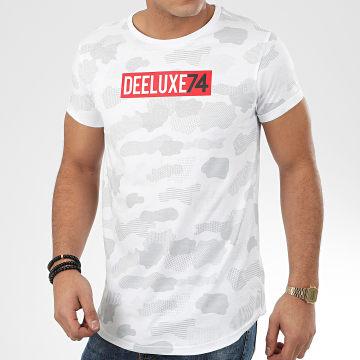 Deeluxe - Tee Shirt Oversize Camouflage Weak Blanc Gris