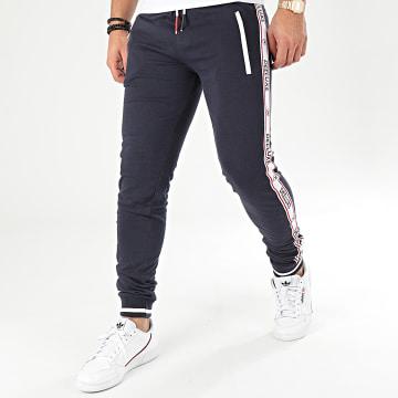 Pantalon Jogging A Bandes Sodyo Bleu Marine Blanc