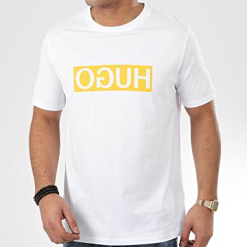 HUGO by Hugo Boss - Tee Shirt Reverse Logo Dicagolino 202 50425766 Blanc Jaune
