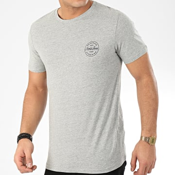 Jack And Jones - Tee Shirt Langmore Chest Gris Chiné