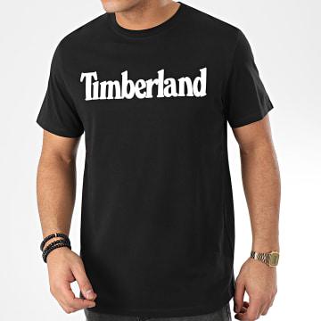 Timberland - Tee Shirt Brand Regular Lin 28DW Noir Blanc