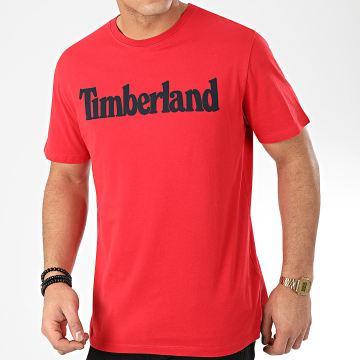 Timberland - Tee Shirt Brand Regular Lin 28DW Rouge Noir