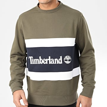 Timberland - Sweat Crewneck Cut And Sew A22CX Vert Kaki
