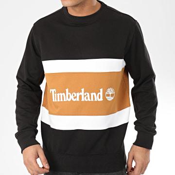 Timberland - Sweat Crewneck Cut And Sew 22CX Noir Camel Blanc