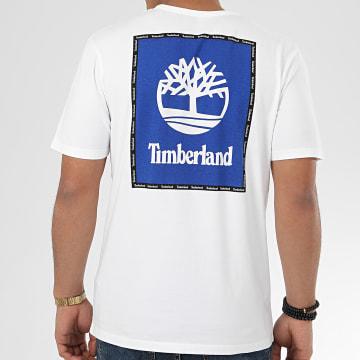 Timberland - Tee Shirt Box Logo 22RP Blanc Bleu Roi