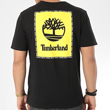 Timberland - Tee Shirt Box Logo 22RP Noir Jaune