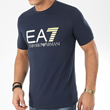 Tee Shirt 3HPT05-PJ03Z Bleu Marine Argenté
