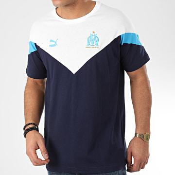 Tee Shirt OM Iconic MCS 756726 Bleu Marine Blanc