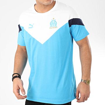 Tee Shirt OM Iconic MCS 756726 Bleu Clair Blanc
