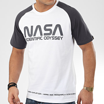 Alpha Industries - Tee Shirt NASA Odyssey 126534 Blanc Gris Anthracite