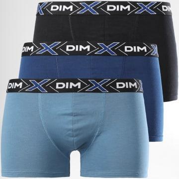 Dim - Dim Lot De 3 Boxers D041B Noir Bleu Clair Bleu Marine