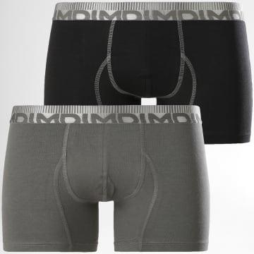 Dim - Lot De 2 Boxers D0688 Gris Noir