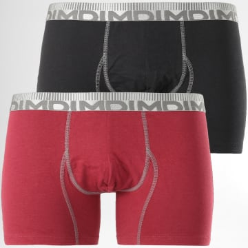 Lot De 2 Boxers D0688 Noir Bordeaux
