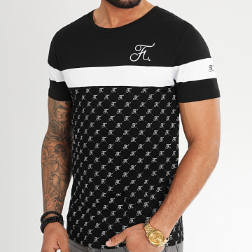 Final Club - Tee Shirt Allover Tricolore Avec Broderie 335 Blanc Noir