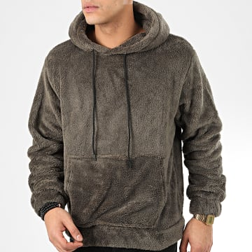 Sweat Capuche Fourrure WY2019011 Gris Anthracite