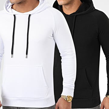 Lot De 2 Sweats Capuche 980 Noir Et Blanc