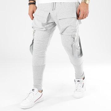 Pantalon Cargo K2255 Gris Chiné