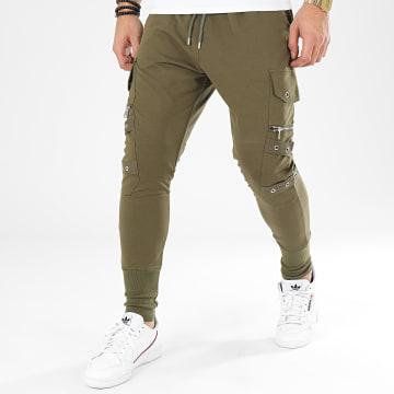 Pantalon Cargo K2256 Vert Kaki