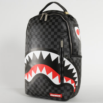 Sprayground - Sac A Dos Grey Checkered Sharks In Paris Noir Gris