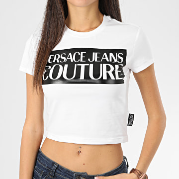 Versace Jeans Couture - Tee Shirt Crop Femme B2HVA7V6-30341 Blanc