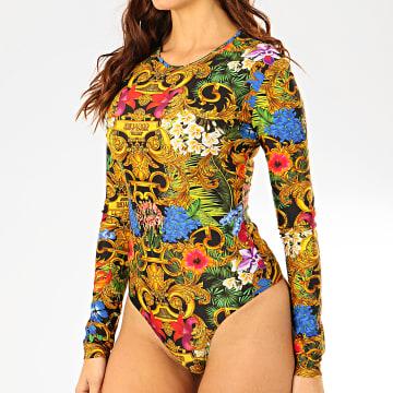 Body Femme D4HVA676-S0649 Noir Floral Renaissance