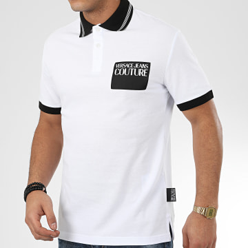 Versace Jeans Couture - Polo Manches Courtes B3GVA7P5-36571 Blanc Noir