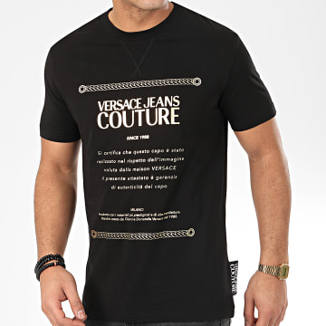 Versace Jeans Couture - Tee Shirt B3GVA7TA-30319 Noir Doré