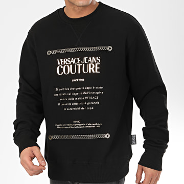 Versace Jeans Couture - Sweat Crewneck B7GVA7TE-30318 Noir Doré