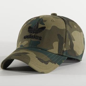 Casquette Baseball Camouflage FM1676 Vert Kaki
