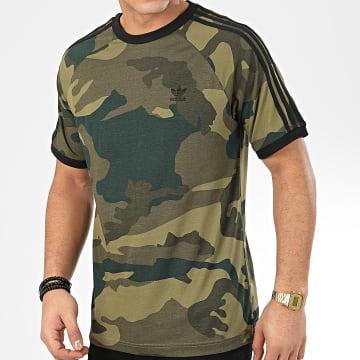 Adidas Originals - Tee Shirt A Bandes Camo Cali FM3351 Vert Kaki Camouflage