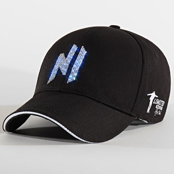 Casquette Baseball LED Avec Strass Noir Argenté