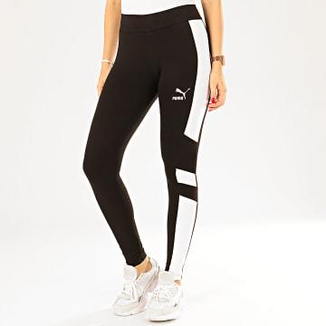 Legging Femme A Bandes TFS 596292 Noir Blanc