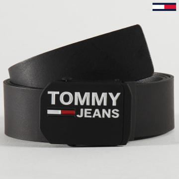 Tommy Jeans - Ceinture Plaque Leather 5560 Noir