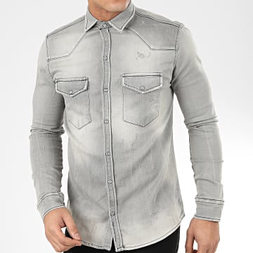 Uniplay - Chemise Jean Manches Longues 179 Gris