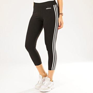 adidas - Legging Femme A Bandes Essential DP2389 Noir Blanc
