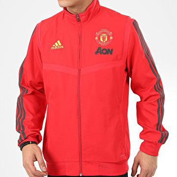 Adidas Performance - Veste De Sport A Bandes Manchester United Presentation DX9045 Rouge