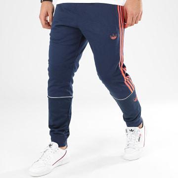 Pantalon Jogging A Bandes Outline SP FLC FM3908 Bleu Marine