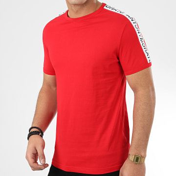 Tee Shirt A Bandes Sport Heritage MMKS01739 Rouge