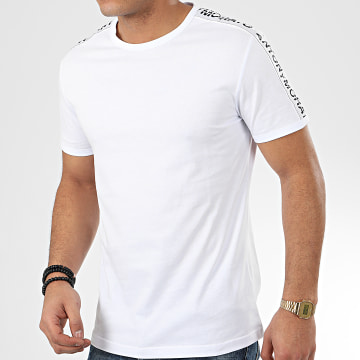 Tee Shirt A Bandes Sport Heritage MMKS01739 Blanc