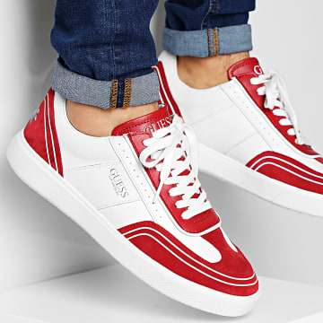 Guess - Baskets FM6NETLEAL12 White Red