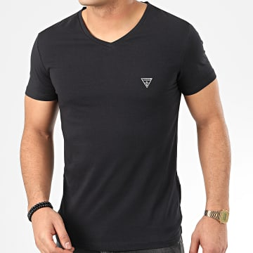 Guess - Tee Shirt Col V U97M01-JR003 Noir